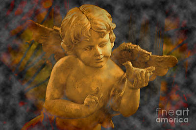 Photograph - The Cherubs Conversation_clouds by Lesa Fine
