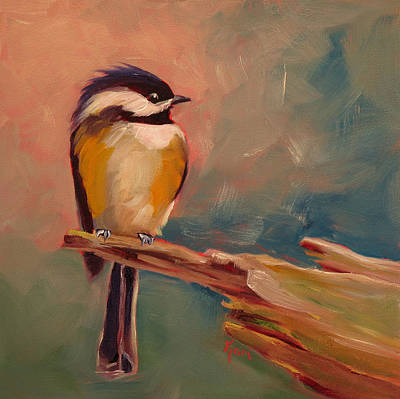 Cage Painting - Bird In Hand by Kari Melen