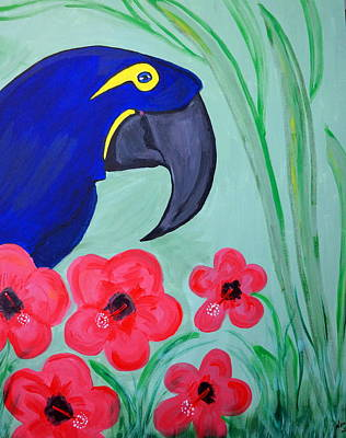 Art Print featuring the painting Bird In Paradise   by Nora Shepley
