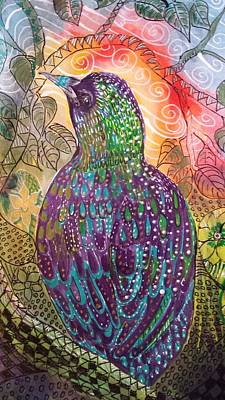 Painting - Bird In Paridise by Jann Elwood