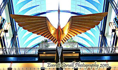 Bird In The Building Art Print