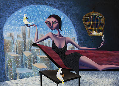 Painting - Bird Lady by Ned Shuchter