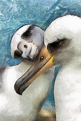 Art Print featuring the painting Bird Love by Georgi Dimitrov