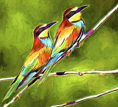 Pet Portraits Digital Art - Bird Love by Yury Malkov