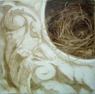 Painting - Bird Nest 1 by Kathryn Donatelli