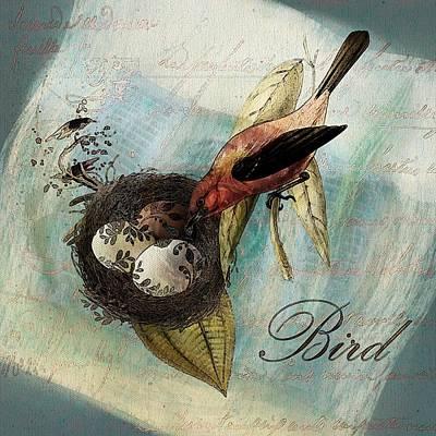 Digital Art - Bird Nest - Sp11a by Variance Collections