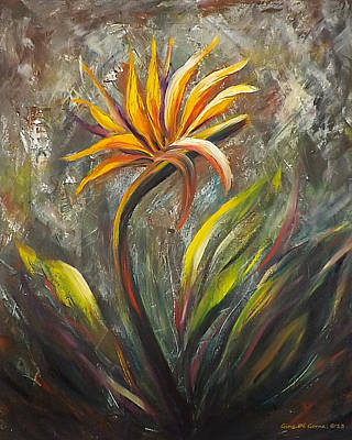 Bird Of Paradise 63 Art Print by Gina De Gorna