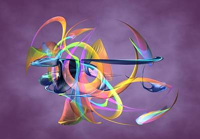 Digital Art - Bird-of-paradise - Abstract by Louis Ferreira