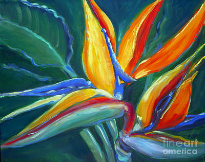 Painting - Bird Of Paradise by Audrey Peaty