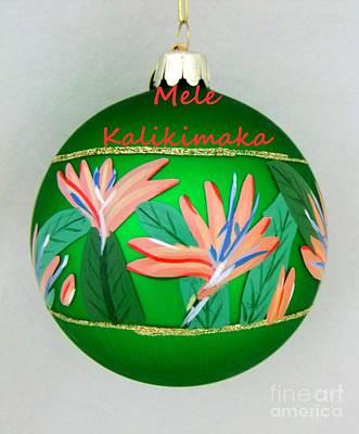 Photograph - Bird Of Paradise Christmas Bulb by Mary Deal