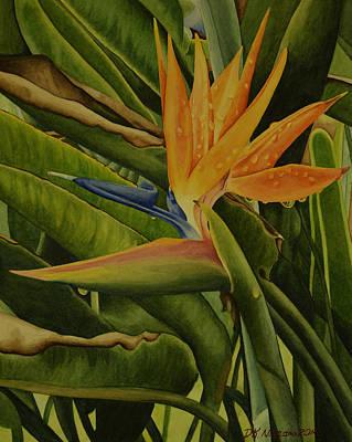 Painting - Bird Of Paradise by DK Nagano