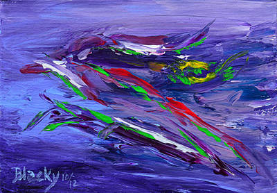 Painting - Bird Of Paradise by Donna Blackhall