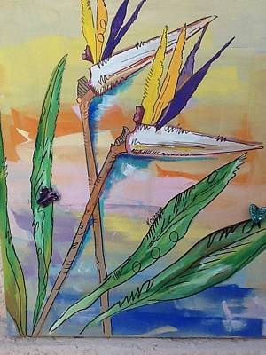 Bird Of Paradise Art Print by Karen Carnow