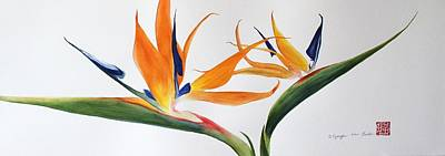 Painting - Bird Of Paradise by Kyong Burke