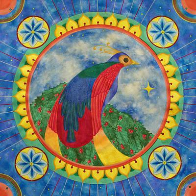 Bird Of Paradise Mandala Art Print by Vlatka Kelc