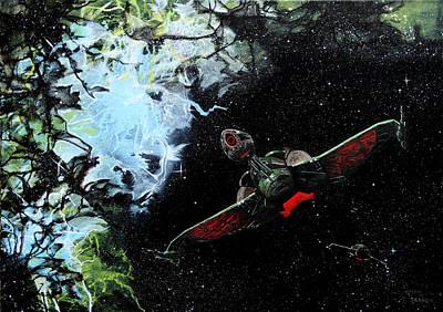 Klingon Wall Art - Painting - Bird Of Prey by Judith Groeger