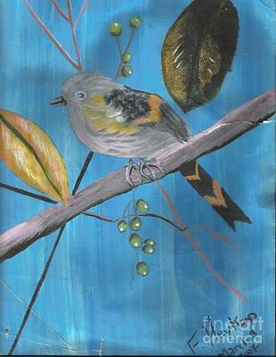 Painting - Bird On A Branch  by Francine Heykoop