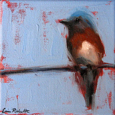 Painting - Bird On A Wire II by Erin Rickelton