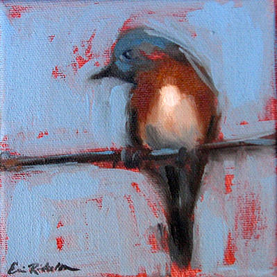 Painting - Bird On A Wire IIi by Erin Rickelton