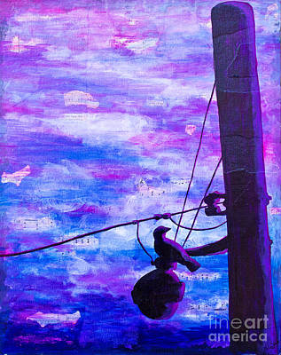 Bird On A Wire Art Print