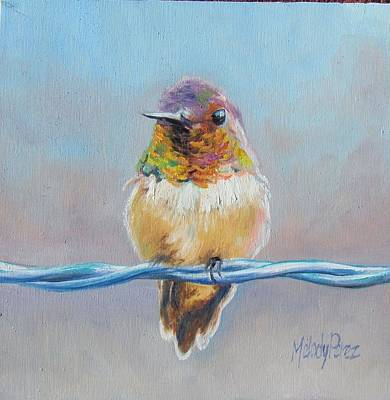 Bird On A Wire Art Print by Melody Perez