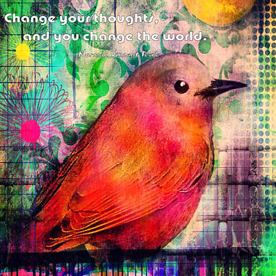 Bird On A Wire Art Print by Robin Mead