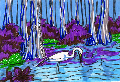 Painting - Bird On The Bayou by Monique Montney