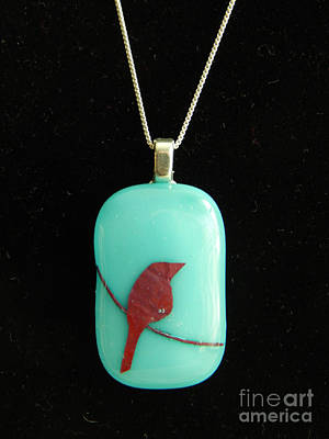 Jewelry - Bird On Wire Pendant by Patricia  Tierney