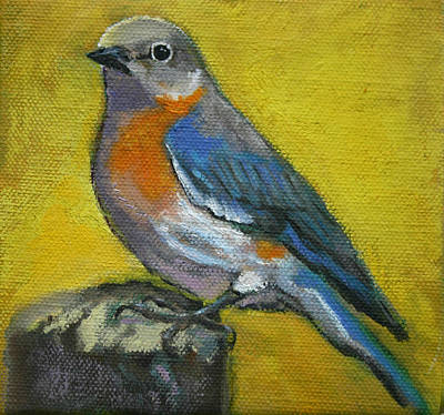 Painting - Bird Series Bluebird by Carol Jo Smidt