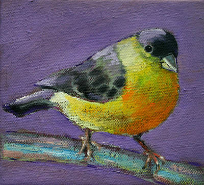 Painting - Bird Series Goldfinch by Carol Jo Smidt