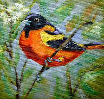 Painting - Bird Series Oriole by Carol Jo Smidt