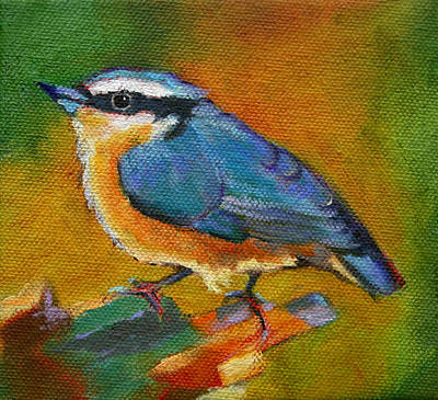 Painting - Bird Series Red Breasted Nuthatch by Carol Jo Smidt