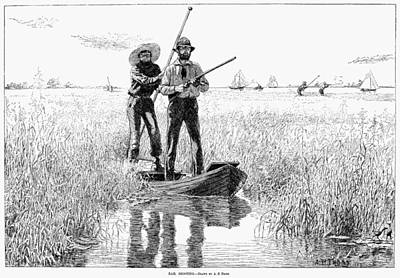 Pole Drawing - Bird Shooting, 1884 by Granger