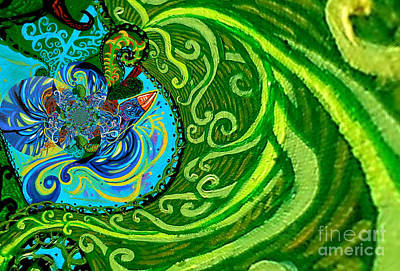 Bird Song Swirl Art Print