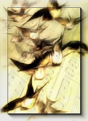 Symphony Digital Art - Bird Symphony by Gun Legler