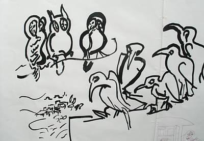 Bird Talk Art Print by Godfrey McDonnell