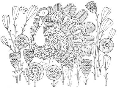 Fun Drawing - Bird Turkey Bird 1 by Neeti Goswami