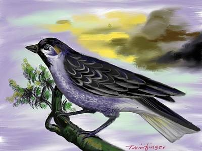Painting - Bird by Twinfinger