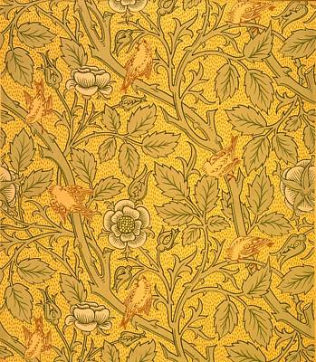Arts And Crafts Tapestry - Textile - Bird Wallpaper Design by William Morris
