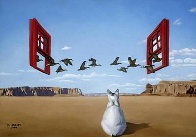 Bird Watcher Art Print by Michael Bridges