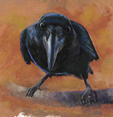 Blackbird Painting - Bird  Watching by Billie Colson