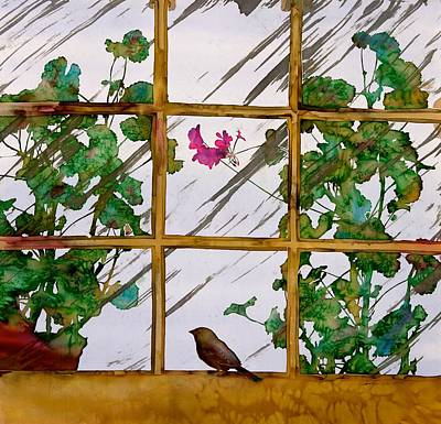 Bird With A View Print by Carolyn Doe