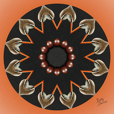 Art Print featuring the photograph Bird With Egg Kaleidoscope by Betty Denise