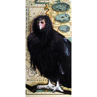 Bird Woman Of Mississippi Art Print by Linda Apple