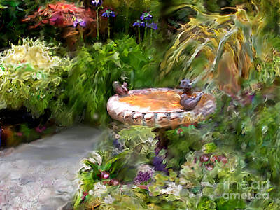 Digital Art - Birdbath by Ursula Freer