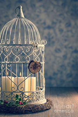 Christmas Candle Photograph - Birdcage Candles by Amanda Elwell