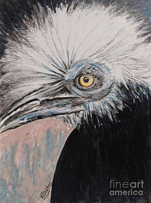 Painting - Birdeye Crown Horn Bill by Richard Jules