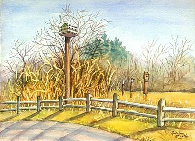 Birdhouse At Gateway National Park Art Print