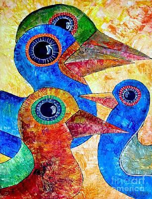Graphics Painting - Birds 736 - Marucii by Marek Lutek