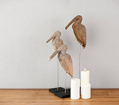 Photograph - Birds And Candles by U Schade